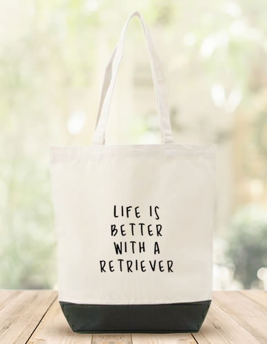 LIFE IS BETTER WITH A RETRIEVER トートバッグ