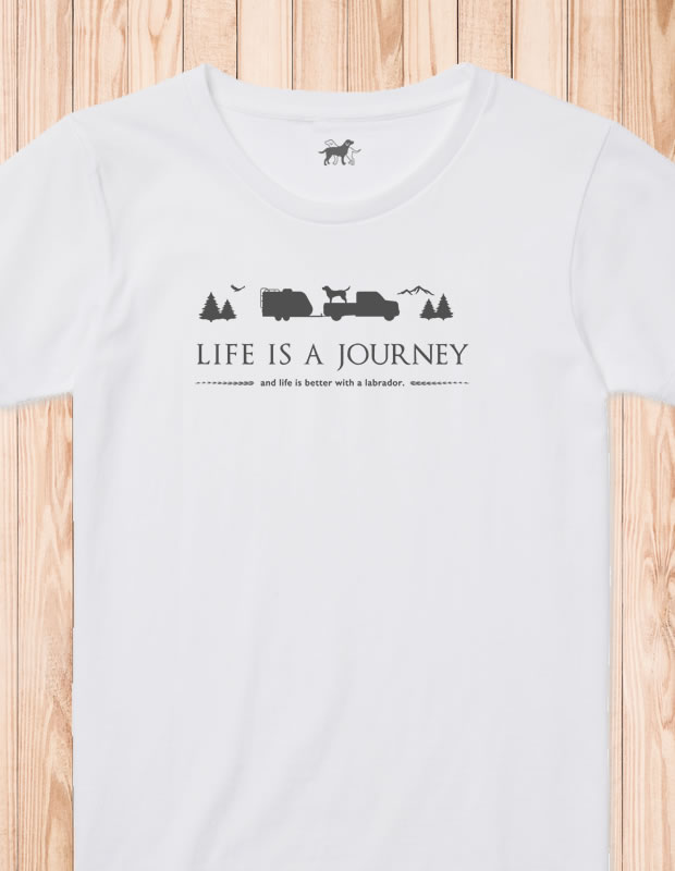 LIFE IS A JOURNEY Tシャツ