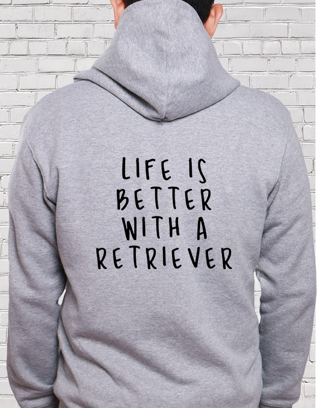 LIFE IS BETTER プルオーバーパーカー